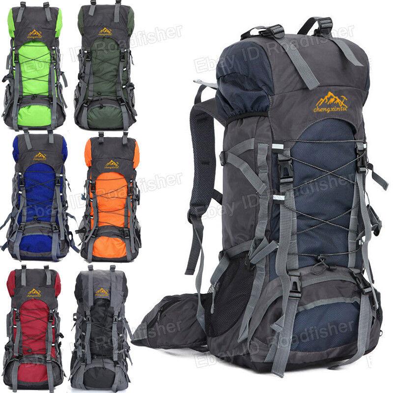 55L Men Women Outdoor Sports Travel Backpack Laptop Climbing