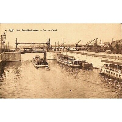 Bruxelles - Laeken. Pont du Canal.