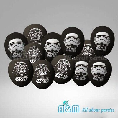 Star Latex Balloons (8 Star Wars Latex Balloons Birthday Party)