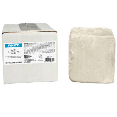 Amaco Air Dry Clay White 25 Lb 46318R Amaco Air Dry Clay