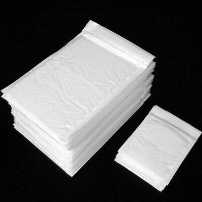 25pcs White Padded Bubble Mailing Envelopes Bags Postal Wrap Tear Resistance