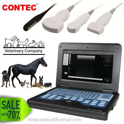 Usa Fedex Veterinary Ultrasound Scanner Laptop Machine Vet Systems Optionl Probe