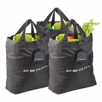 Faltbare Tasche: 3er-Set faltbare Einkaufstaschen mit Schutzhülle, 17,5 Liter