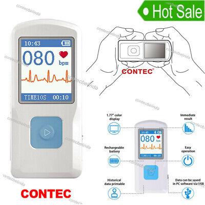Bluetooth Portable Ecg Ekg Machine Lcd Heart Beat Monitor Pm10fress Software Us