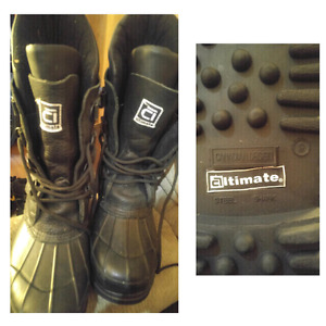 Steel toe winter boots size 9