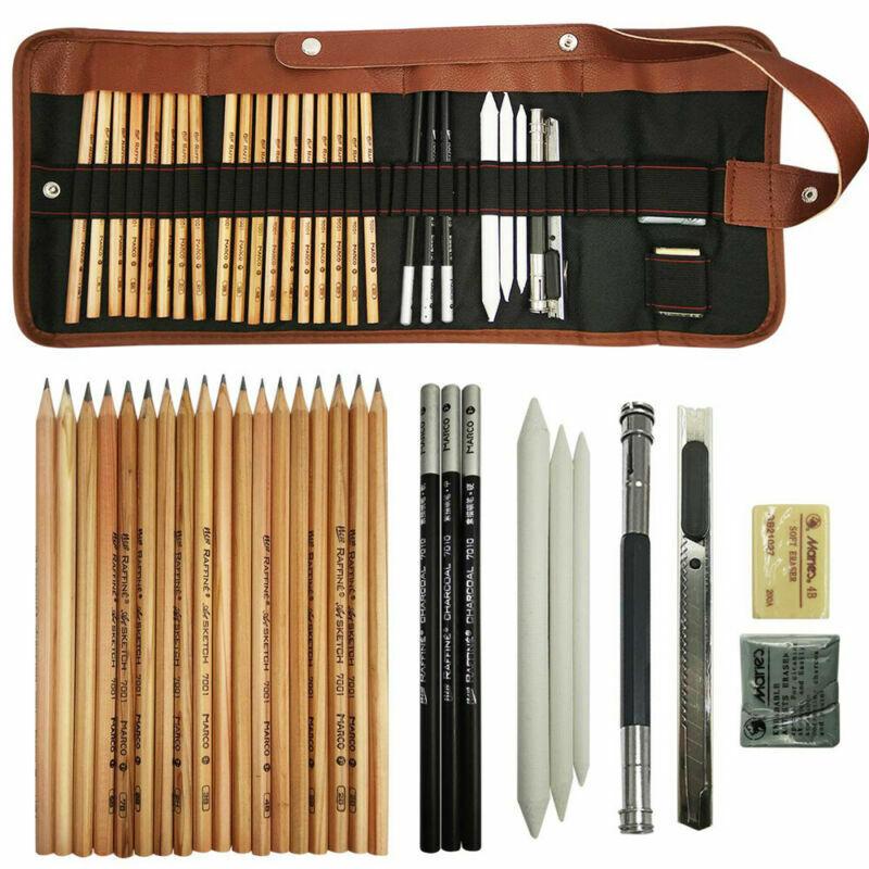 Sketch Drawing Pencil Set Art Supplies Artist Sketching Kit