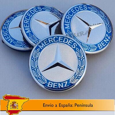 TAPABUJES MERCEDES BENZ TAPAS LLANTAS [75mm] Tapacubos Emblema Logo Centro Rueda