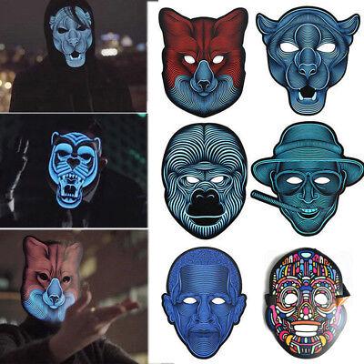 Sound Reactive LED Mask Sound aktiviert Street Dance Rave Cosplay Party Maske