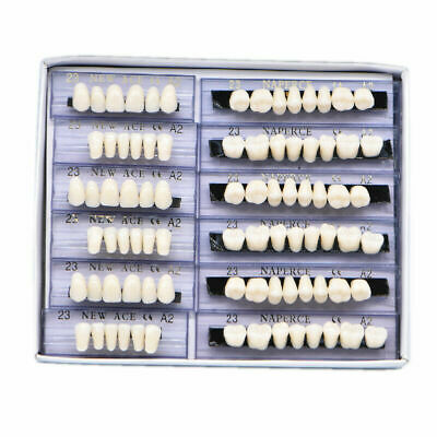 168pc Acrylic Resin Denture 23 A2 Dental Full Set Teeth Upper Lower Shade Tooth