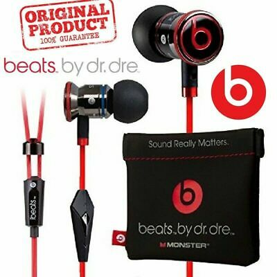 Genuine Monster Beats by Dr.Dre iBeats In-Ear Headphones Earphones Black White