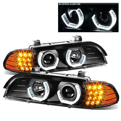 FLEETWOOD PACE ARROW 200 2003 HEAD LIGHTS LAMP PROJECTOR HEADLIGHTS BLACK - SET