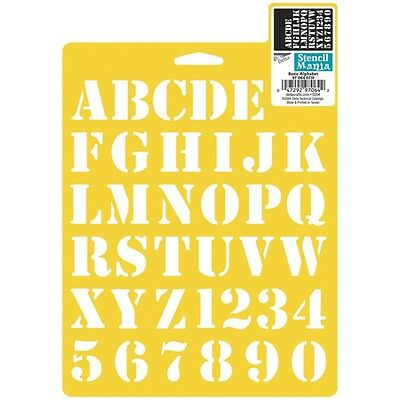 "Stencil Mania Stencil 7""X10""-Basic Alphabet 1"""