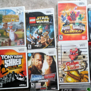 Wii and play station 3 games