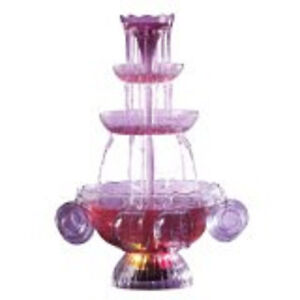 Nostalgia Electrics Vintage Collection Lighted Party Fountain Beverage LPF-210 S