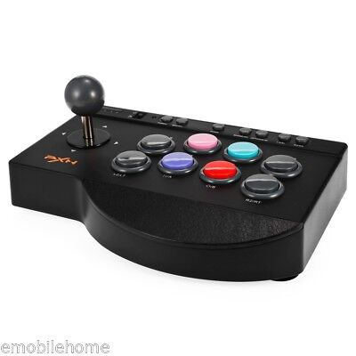 Usado, PXN-0082 USB Wired ABS Arcade Game Controller Joystick for PC/ PS3/ PS4/ XBox comprar usado  Enviando para Brazil