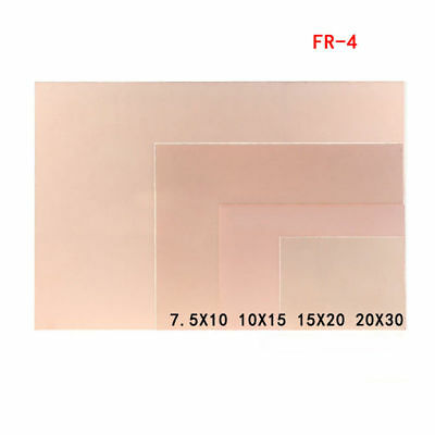 Double Sided Copper Clad Pcb Fr4 Laminate Board 7.5x10cm 10x15cm 15x20cm 20x30cm