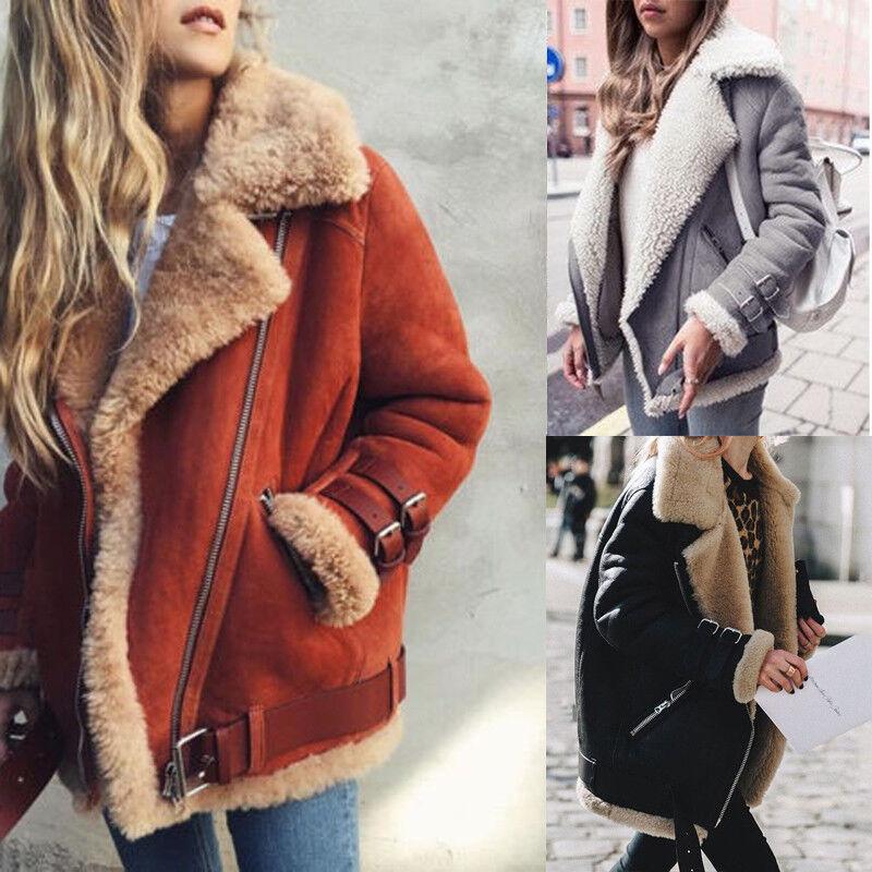 Plus Size Women Teddy Coat Winter Faux Fur Jacket Warm Long