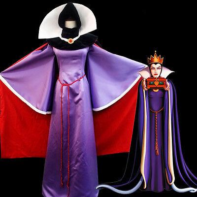 Snow White Schneewittchen königin Queen Cosplay Kostüm Abend-kleid lang (Snow Queen Kleid Kostüm)