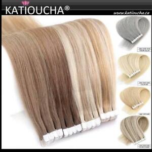 Tape In Hair Extensions | 100% Human Remy Hair ***** Rallonges Bandes Adhésives100% Cheveux Humain Rémy