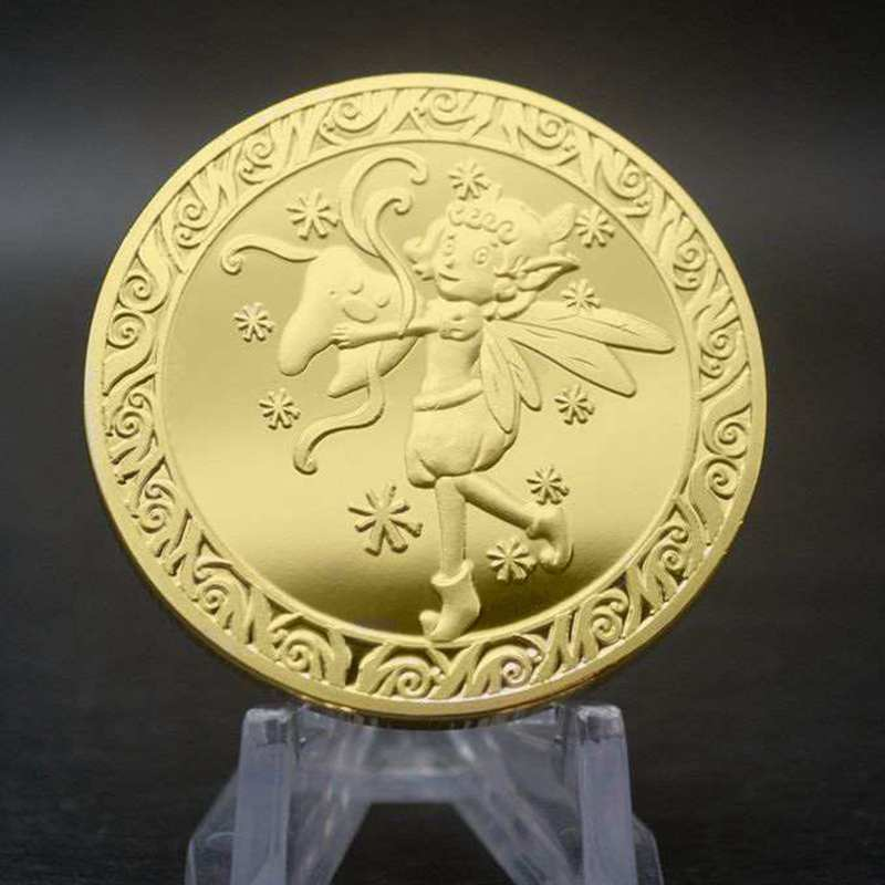 Tooth Fairy Gift Gold Plated Commemorative Coin Creative Kids Tooth Change