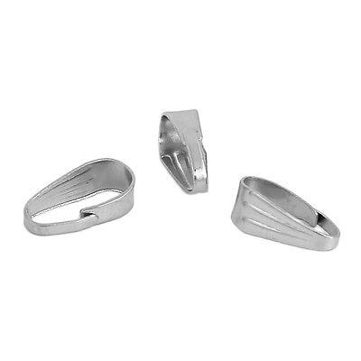 Collierschlaufe silber 20 Stück V63