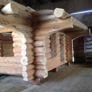 Log Cabin Yellow Cedar Handcrafted