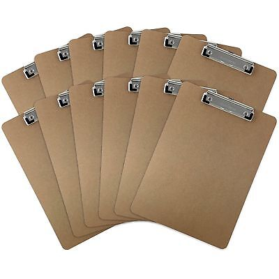 Trade Quest Letter Size Clipboards Low Profile Clip Hardboard Pack Of 12
