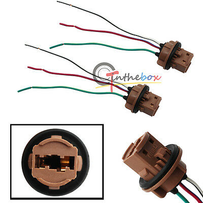El Wire Bulk (2X 7443 7440 Pre-wired Sockets Plugs Wiring Harness For Brake Turn Signal)