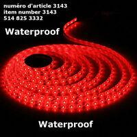 5M 500CM 3528 Red 300 LED SMD Flexible Light Strip Waterproof DC