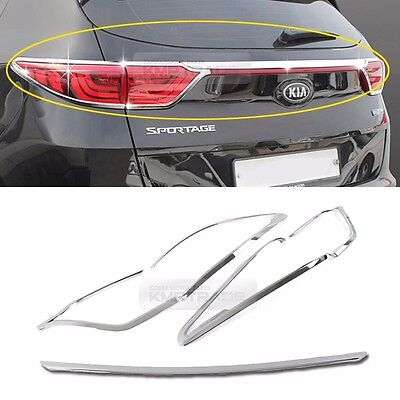 Chrome Silver Rear Light Lamp Cover Molding Garnish 5Pcs for KIA 17-20 Sportage