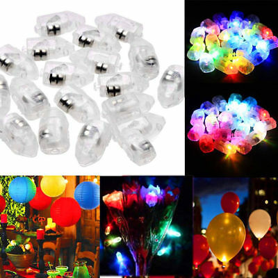 100pcs LED Balloon Lamp Paper Lantern For Christmas Wedding Party Decor Light AA