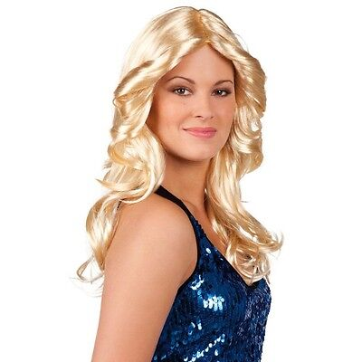 70er Glamour Disco Damen Perücke blond Langhaar - Fasching Karneval #6172