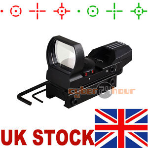 Metal Holographic 4 Reticle Red Green Dot Sight For 20mm Picatinny Weaver Rail !