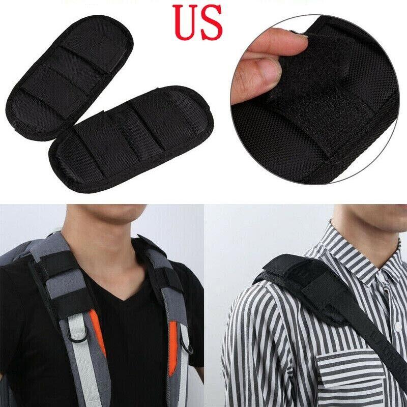US 2Pcs Soft Shoulder Strap Pads Fastener Cushion Belt for B