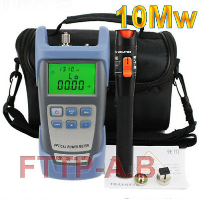 Fiber Optical Power Meter 10mw 10-12km Visual Fault Locator Cable Tester Bag