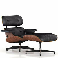 Eames Lounge Chair with Ottoman + Free Eames Side Stool