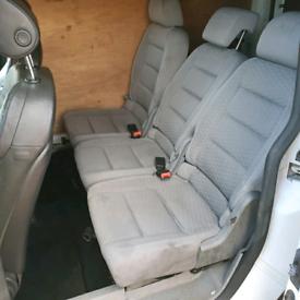 VW Touran / caddy rear seat conversion / crew cab seats