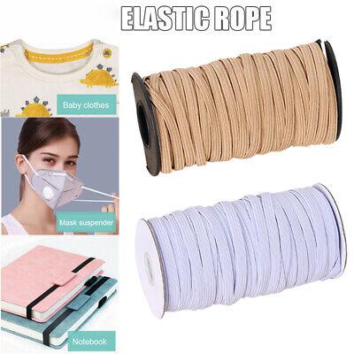 22-50M DIY Braided Elastic Band Cord Knit Band Sewing Strap