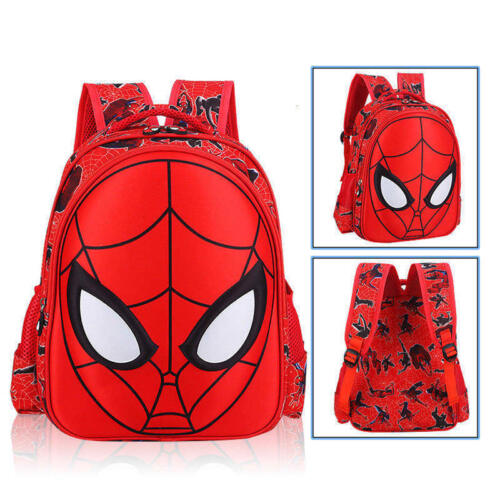 US Stock 3D Spiderman School Bag Backpack Three Size For Boy