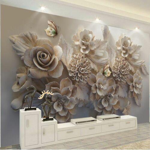 Waterproof 3d Wallpaper Murals Living Room Home Wall Embossed Floral Wallpapers