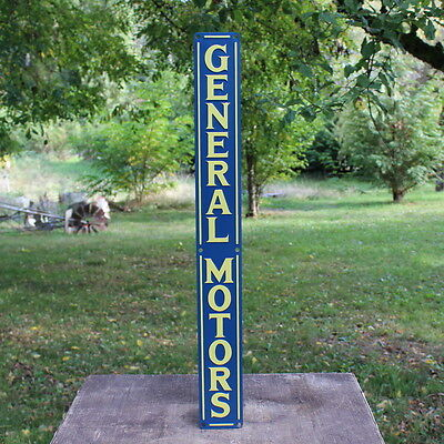 General Motors Gm Embossed Metal Sign Car Truck Dealership