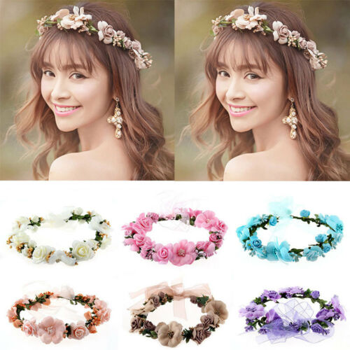 Multi-Color Boho Flower Floral Women Hairband Headband Crown