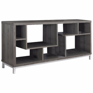 """Monarch Asymmetrical TV Stand for TVs Up to 60"""" - Dark Taupe New"""