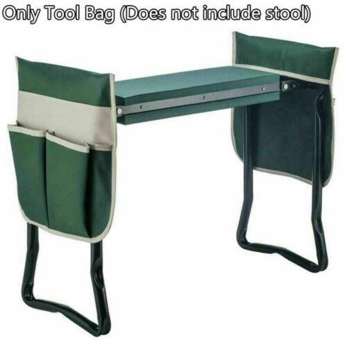 Folding Garden Kneeler Seat Bonus Tool Pouch Portable Stool Pad Chair Multi Bag