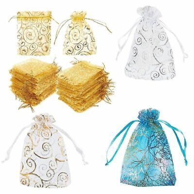 120 Organza Wedding Party Favor Mesh Gift Bags Candy Sheer Bag Jewelry -