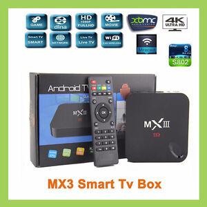 ***NEW***   Genuine MX3 MXIII G 4K Android 5.1 Smart TV Box MX 3