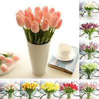 10pcs Tulipa Flor Artificiales Látex Tacto Real Novia Boda Ramo Decoración Hogar -  - ebay.es