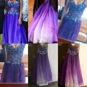 Purple ombre grad dress