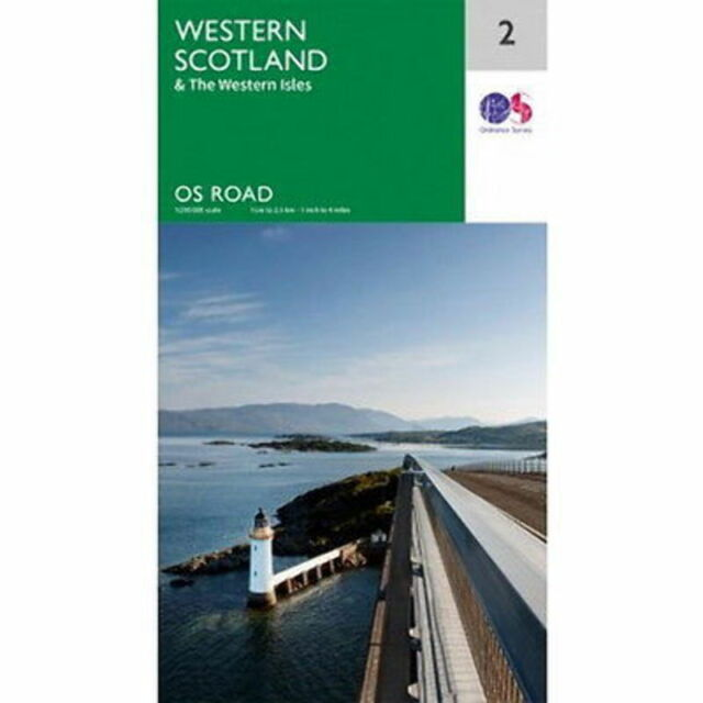Western Scotland Map 2 Ordnance Survey Road Map 1:250 000