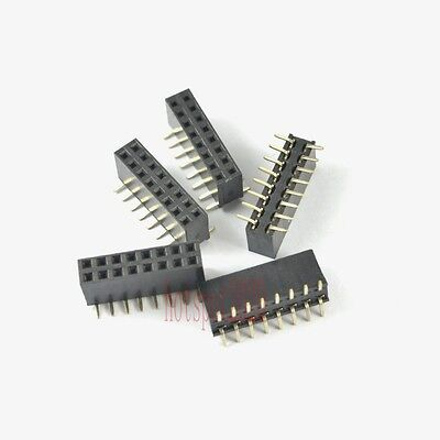 20pcs 2.54mm Pitch 2x8 16pin Header Strip Double Row Smtsmd Female Pcb Board